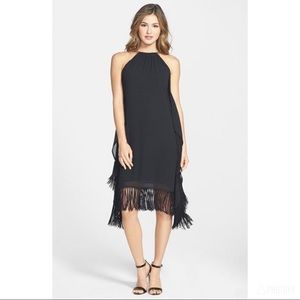 Michael Kors Chain Halter Fringe Dress